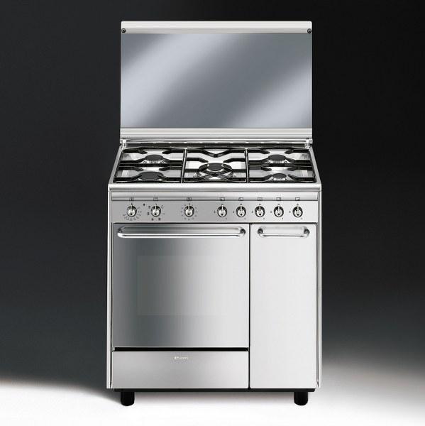 Cucina Gas Smeg Cx81sv 80x50 Inox Cottura Cucine A Gas Su Ugoliniservice It